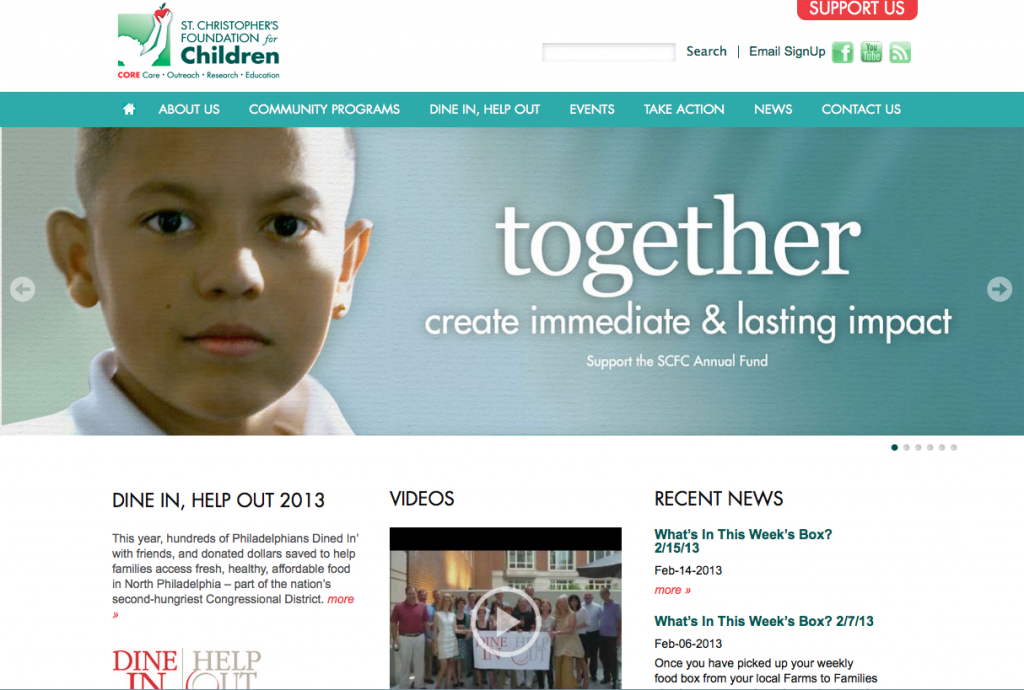 St Christopher's Foundation for Children Home Page - Annual Appeal Image